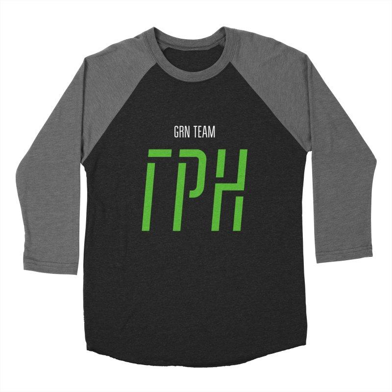 ДАРК ГРН / DARK GRN Men's Baseball Triblend Longsleeve T-Shirt by СУПЕР* / SUPER*