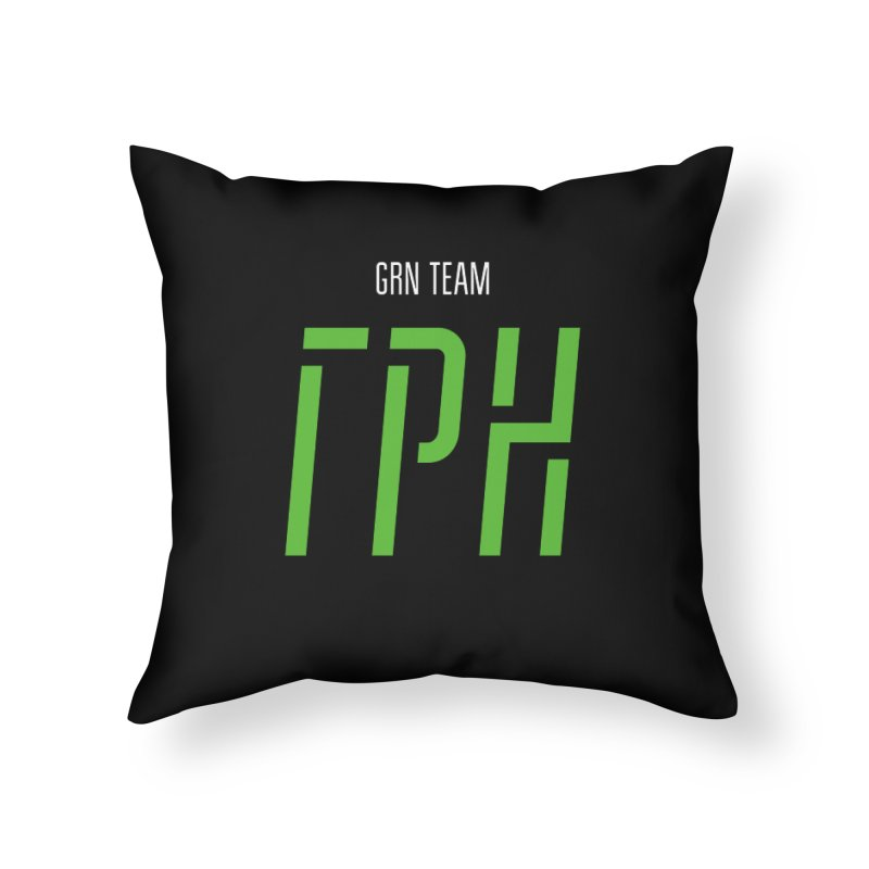 ДАРК ГРН / DARK GRN Home Throw Pillow by СУПЕР* / SUPER*