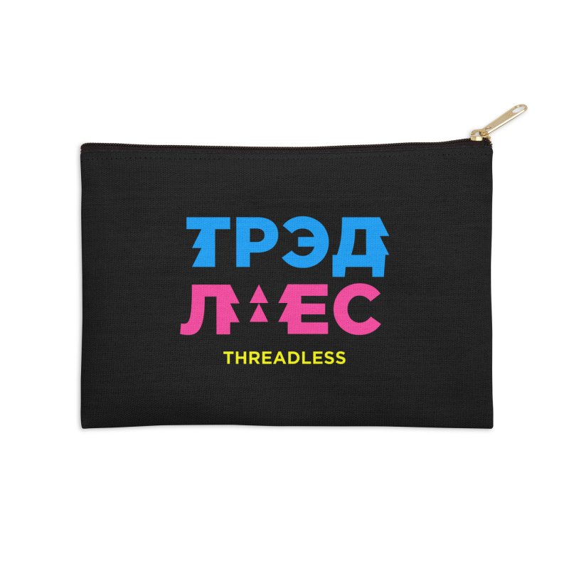 ТРЭДЛЕС / THREADLESS Accessories Zip Pouch by СУПЕР* / SUPER*