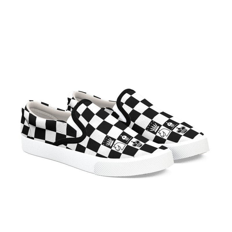 CHESS NOT DEAD! Men's Slip-On Shoes by ゴロキ | GORODKEY | GRDK Clothing