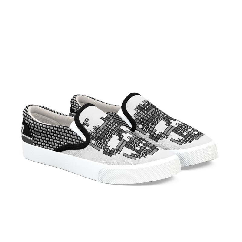 MONOCHROME GAMER Men's Slip-On Shoes by ゴロキ | GORODKEY | GRDK Clothing
