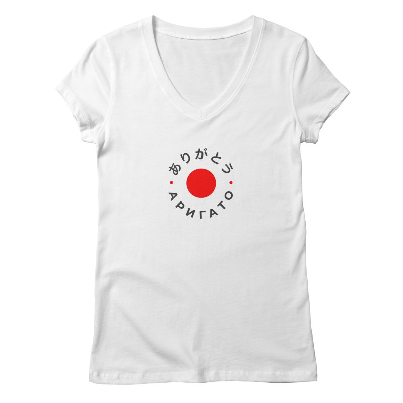 Arigato Women's Regular V-Neck by СУПЕР* / SUPER*