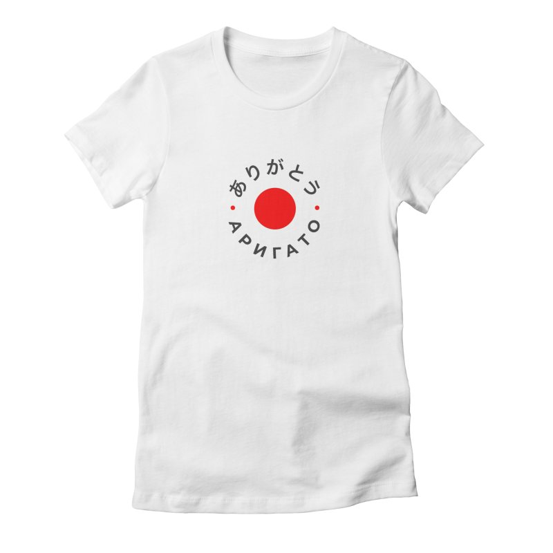 Arigato Women's Fitted T-Shirt by СУПЕР* / SUPER*