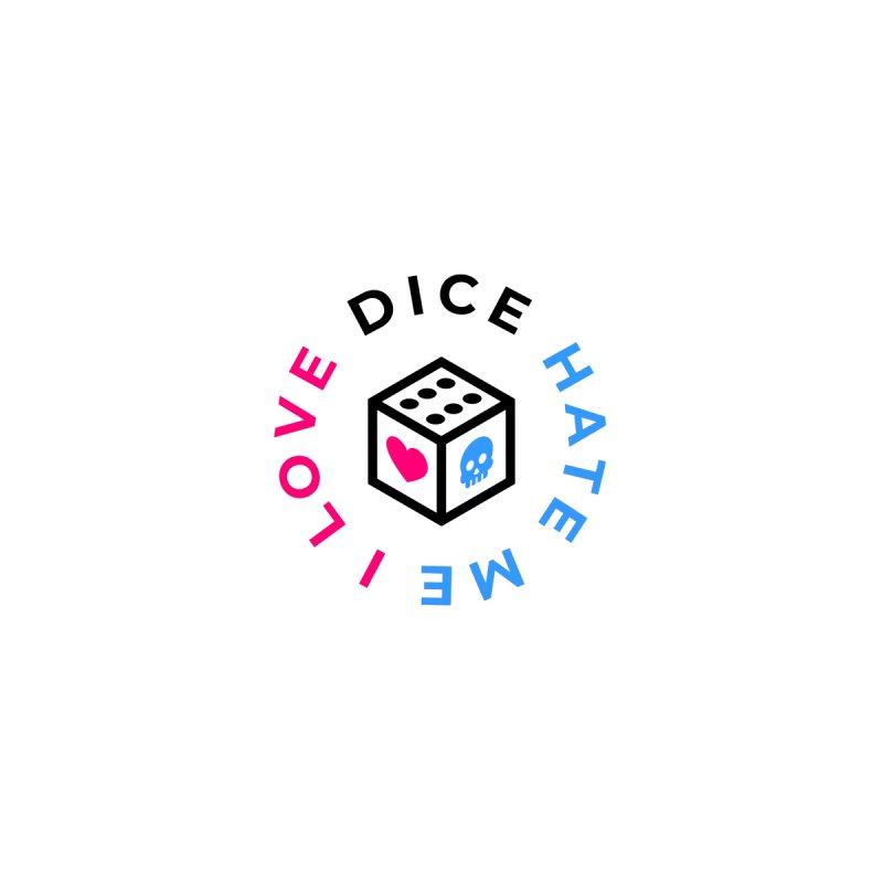 I Love Dice But Dice Hate Me Accessories Sticker by ゴロキ | GORODKEY | GRDK Clothing