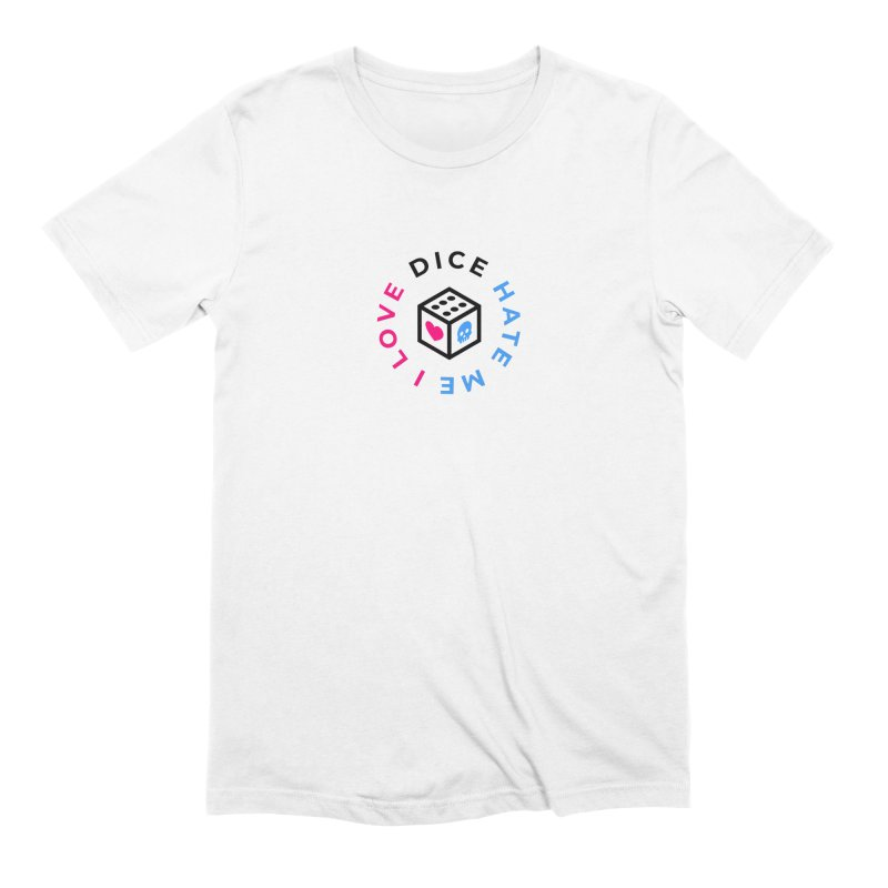 I Love Dice But Dice Hate Me in Men's Extra Soft T-Shirt White by СУПЕР* / SUPER*