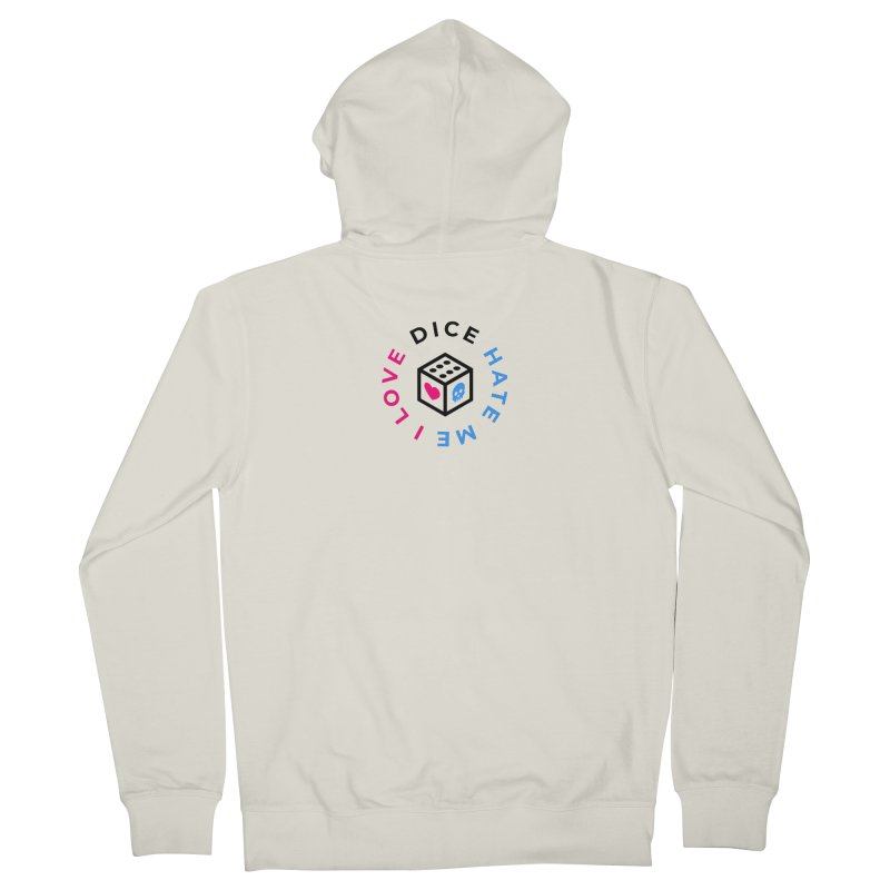 I Love Dice But Dice Hate Me Men's French Terry Zip-Up Hoody by СУПЕР* / SUPER*