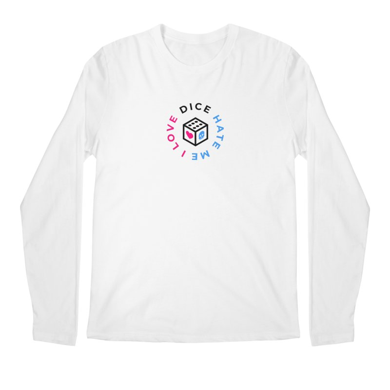 I Love Dice But Dice Hate Me Men's Regular Longsleeve T-Shirt by СУПЕР* / SUPER*