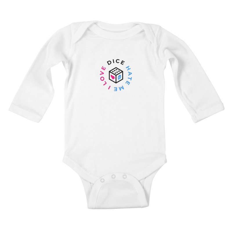 I Love Dice But Dice Hate Me Kids Baby Longsleeve Bodysuit by СУПЕР* / SUPER*