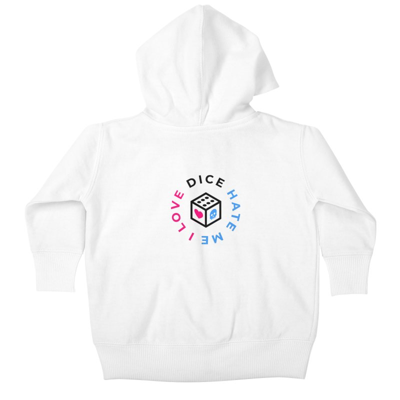 I Love Dice But Dice Hate Me Kids Baby Zip-Up Hoody by СУПЕР* / SUPER*