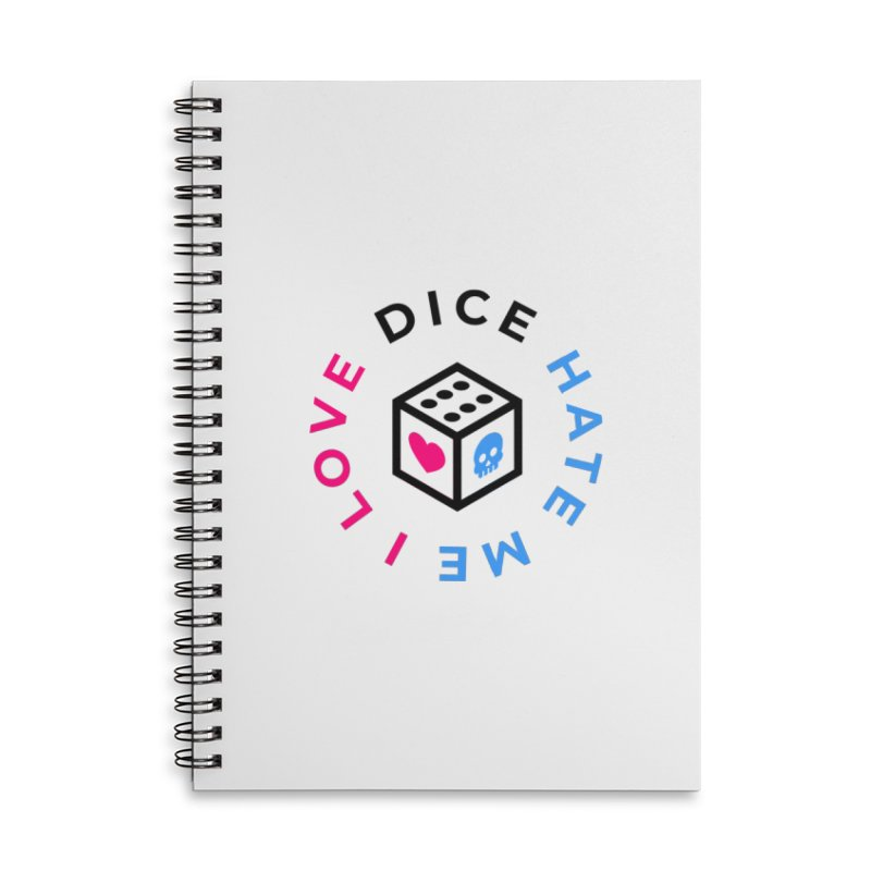 I Love Dice But Dice Hate Me Accessories Lined Spiral Notebook by ゴロキ   GORODKEY   GRDK Clothing
