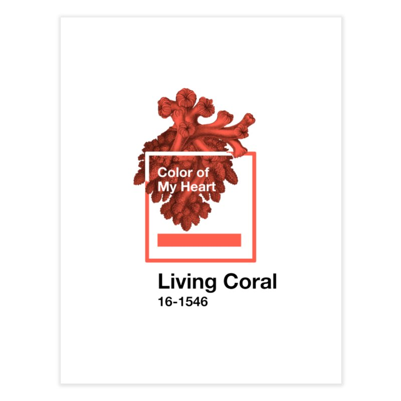 Coral Of My Heart Home Fine Art Print by ゴロキ | GORODKEY | GRDK Clothing
