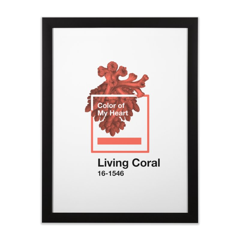 Coral Of My Heart Home Framed Fine Art Print by ゴロキ | GORODKEY | GRDK Clothing