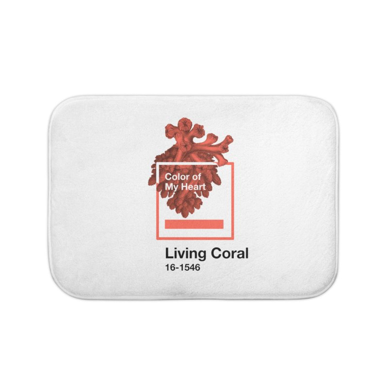 Coral Of My Heart Home Bath Mat by ゴロキ | GORODKEY | GRDK Clothing