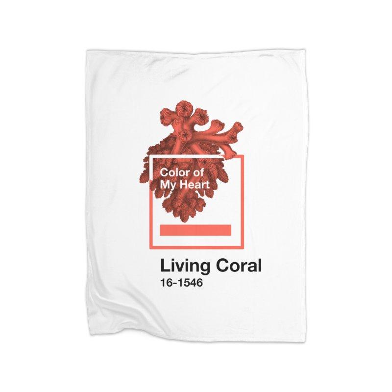 Coral Of My Heart Home Fleece Blanket Blanket by ゴロキ | GORODKEY | GRDK Clothing