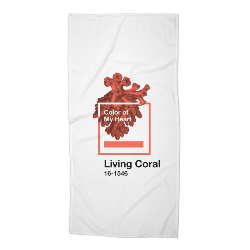 Coral Of My Heart Accessories Beach Towel by ゴロキ | GORODKEY | GRDK Clothing