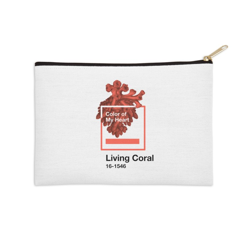 Coral Of My Heart Accessories Zip Pouch by ゴロキ | GORODKEY | GRDK Clothing