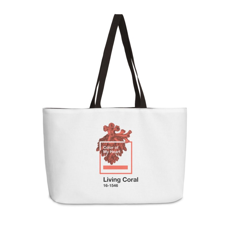 Coral Of My Heart Accessories Weekender Bag Bag by ゴロキ | GORODKEY | GRDK Clothing