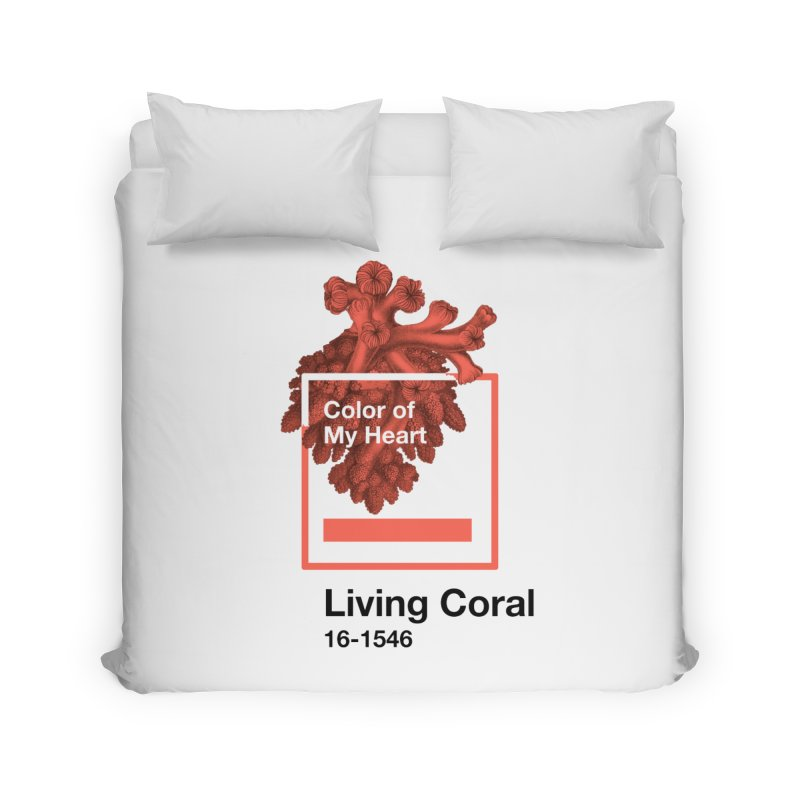 Coral Of My Heart Home Duvet by СУПЕР* / SUPER*