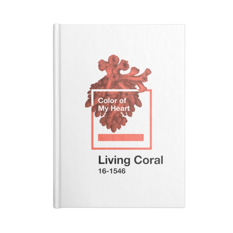 Coral Of My Heart Accessories Blank Journal Notebook by ゴロキ | GORODKEY | GRDK Clothing