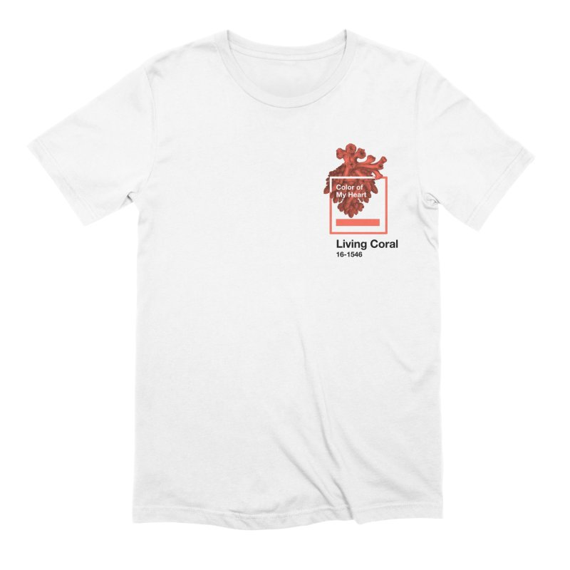 Coral Of My Heart Men's Extra Soft T-Shirt by СУПЕР* / SUPER*