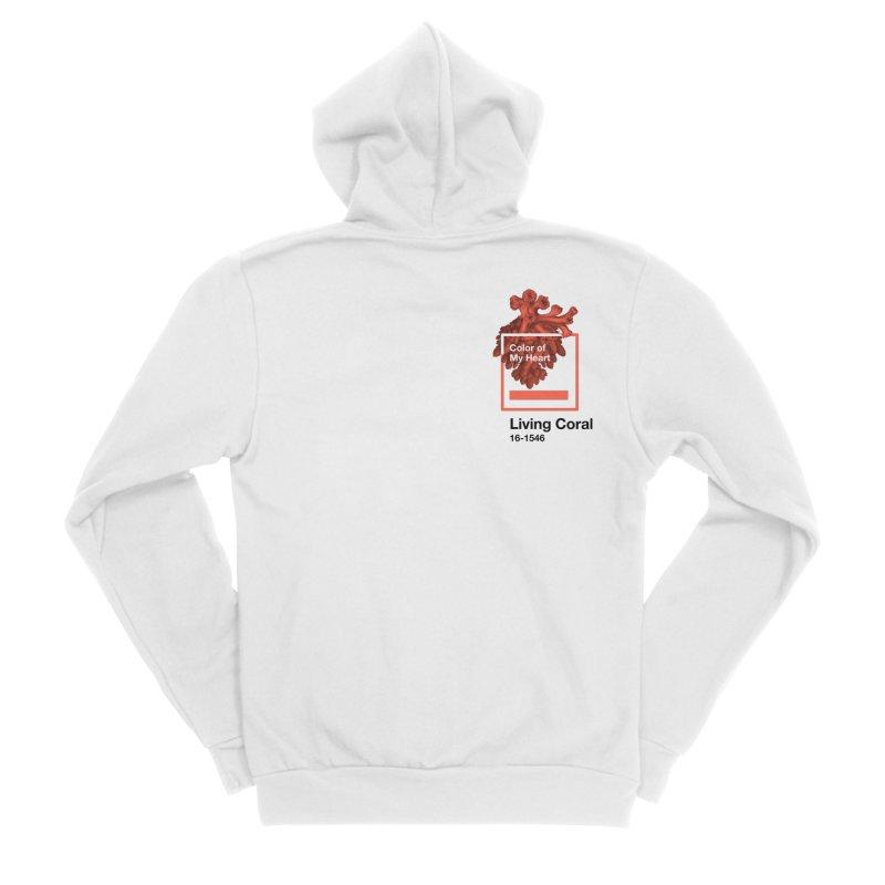 Coral Of My Heart Men's Sponge Fleece Zip-Up Hoody by ゴロキ | GORODKEY | GRDK Clothing