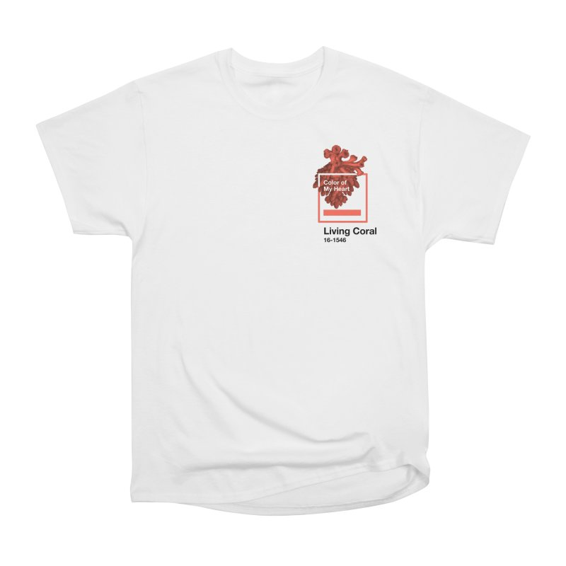 Coral Of My Heart Men's Heavyweight T-Shirt by СУПЕР* / SUPER*