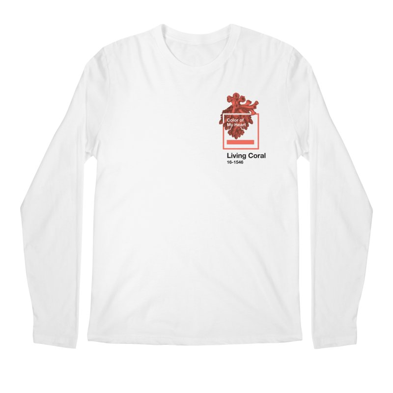 Coral Of My Heart Men's Regular Longsleeve T-Shirt by СУПЕР* / SUPER*