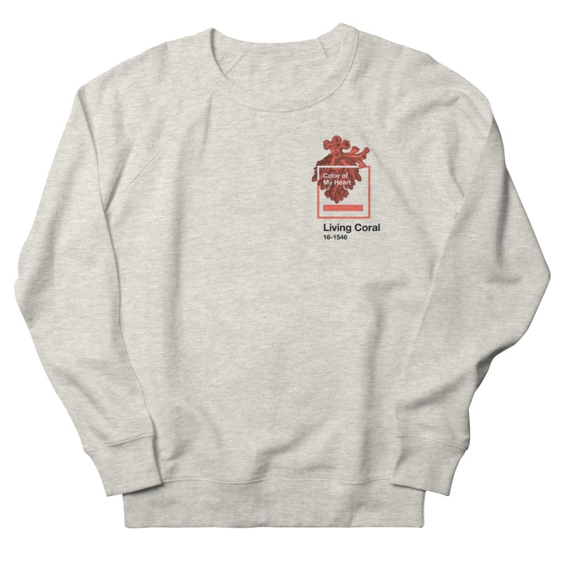Coral Of My Heart Women's French Terry Sweatshirt by СУПЕР* / SUPER*