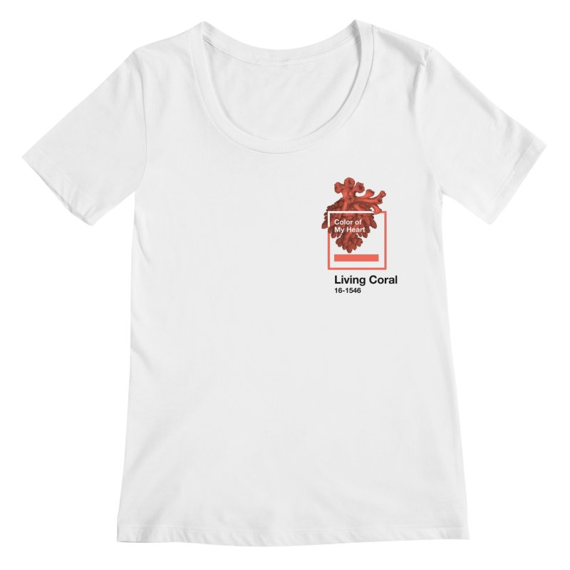 Coral Of My Heart Women's Regular Scoop Neck by СУПЕР* / SUPER*