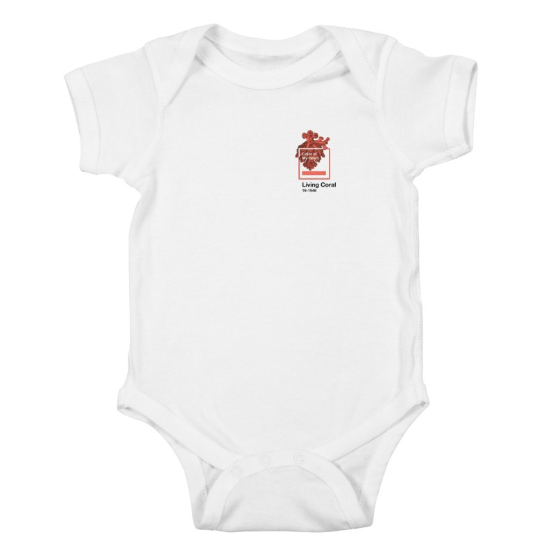 Coral Of My Heart Kids Baby Bodysuit by СУПЕР* / SUPER*