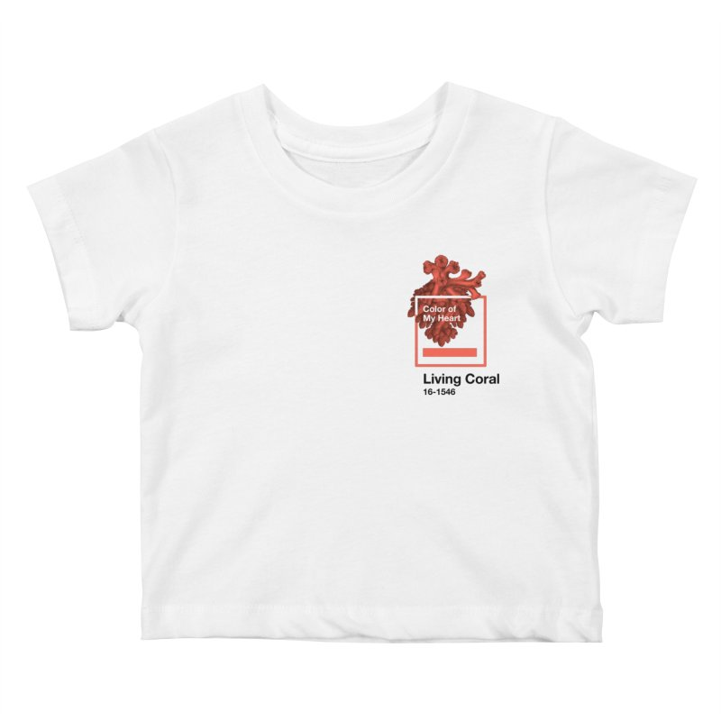 Coral Of My Heart Kids Baby T-Shirt by ゴロキ | GORODKEY | GRDK Clothing