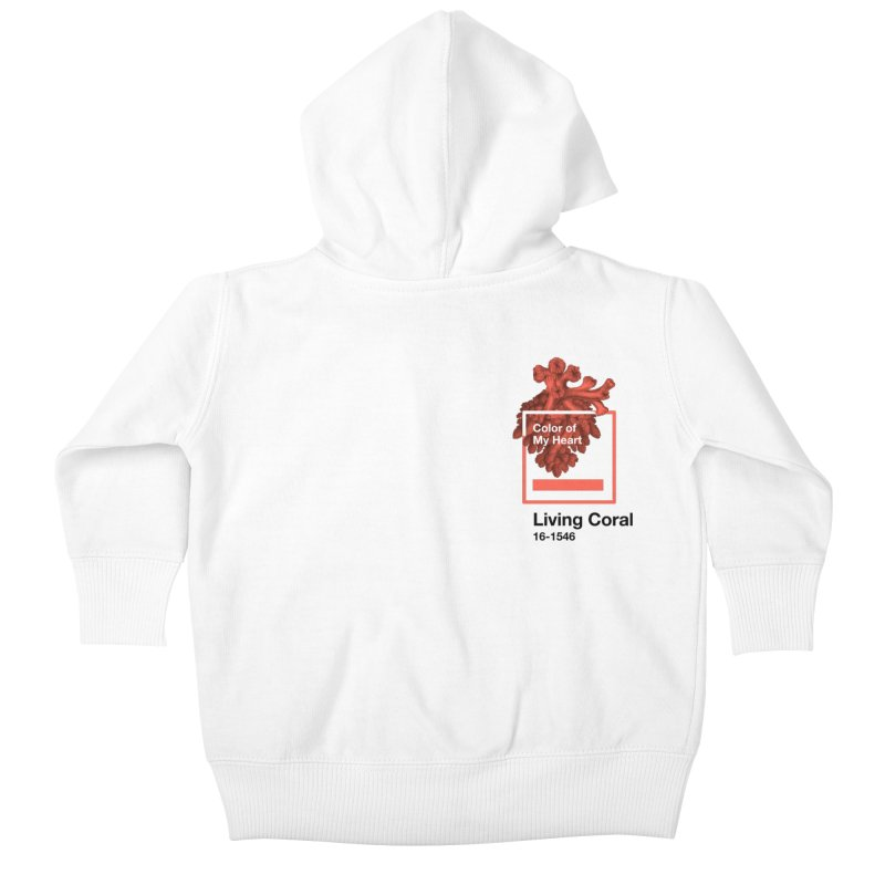 Coral Of My Heart Kids Baby Zip-Up Hoody by ゴロキ | GORODKEY | GRDK Clothing