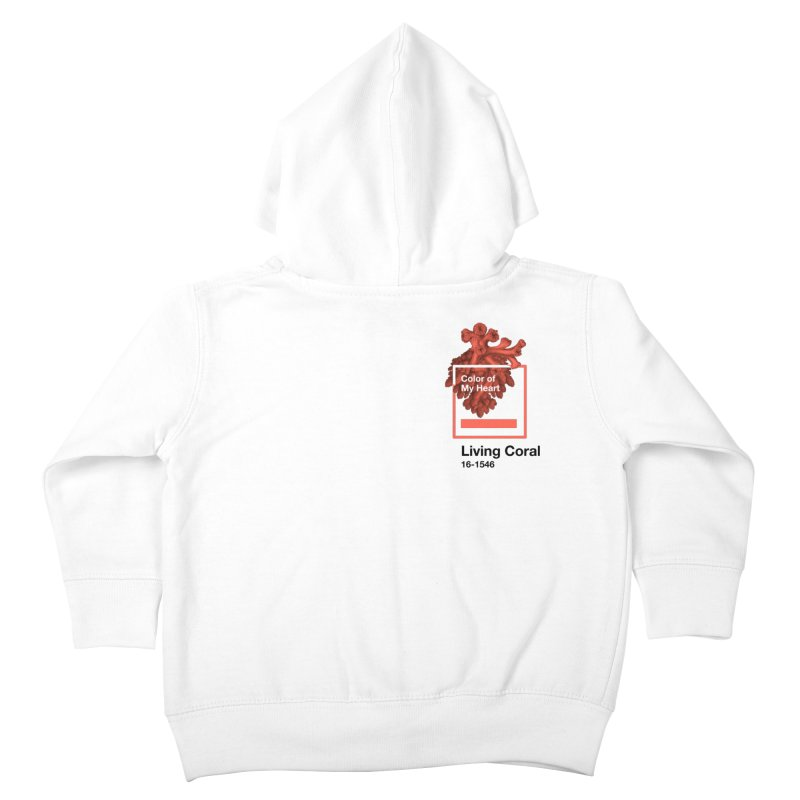 Coral Of My Heart Kids Toddler Zip-Up Hoody by ゴロキ | GORODKEY | GRDK Clothing