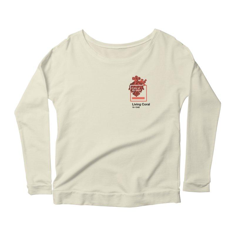 Coral Of My Heart Women's Scoop Neck Longsleeve T-Shirt by СУПЕР* / SUPER*