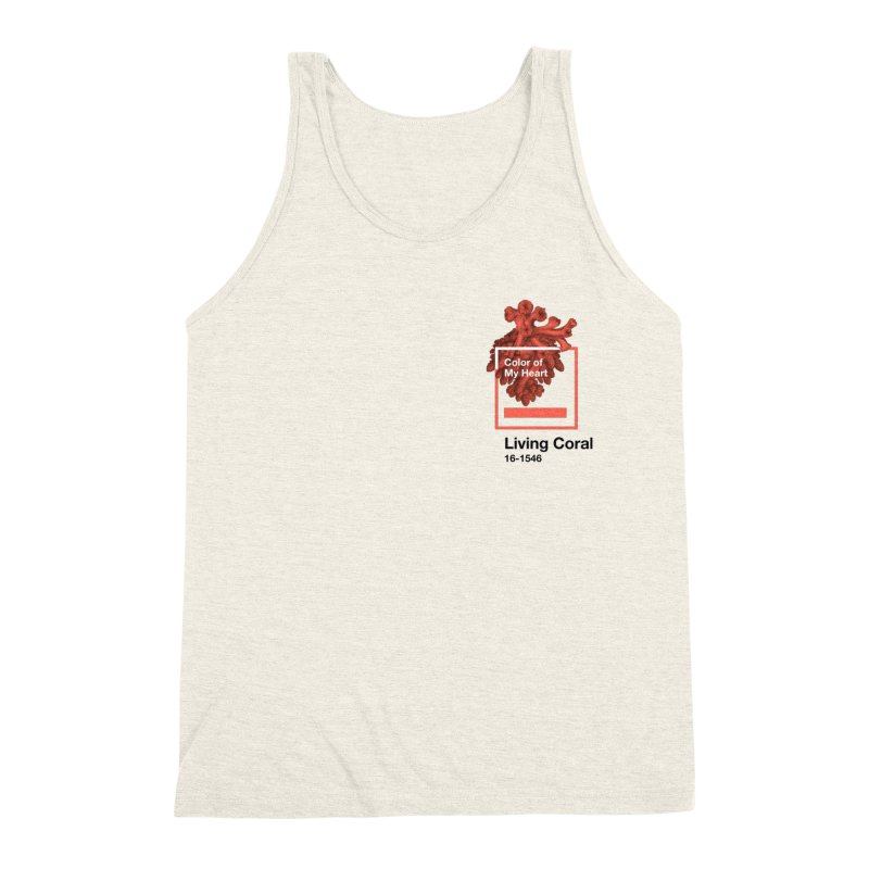 Coral Of My Heart Men's Triblend Tank by ゴロキ   GORODKEY   GRDK Clothing