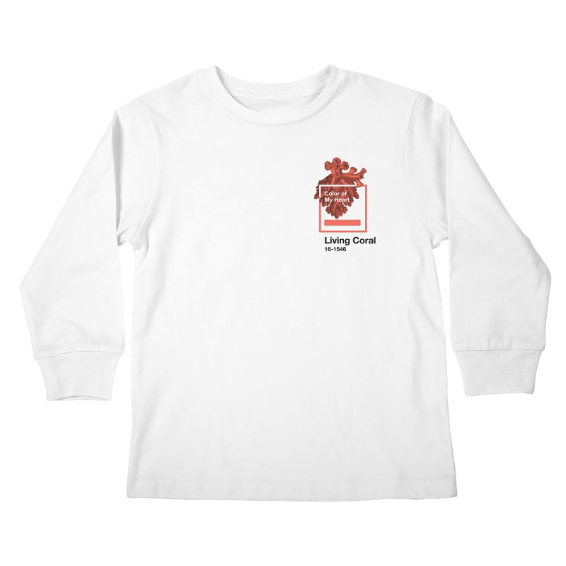 Coral Of My Heart Kids Longsleeve T-Shirt by ゴロキ | GORODKEY | GRDK Clothing