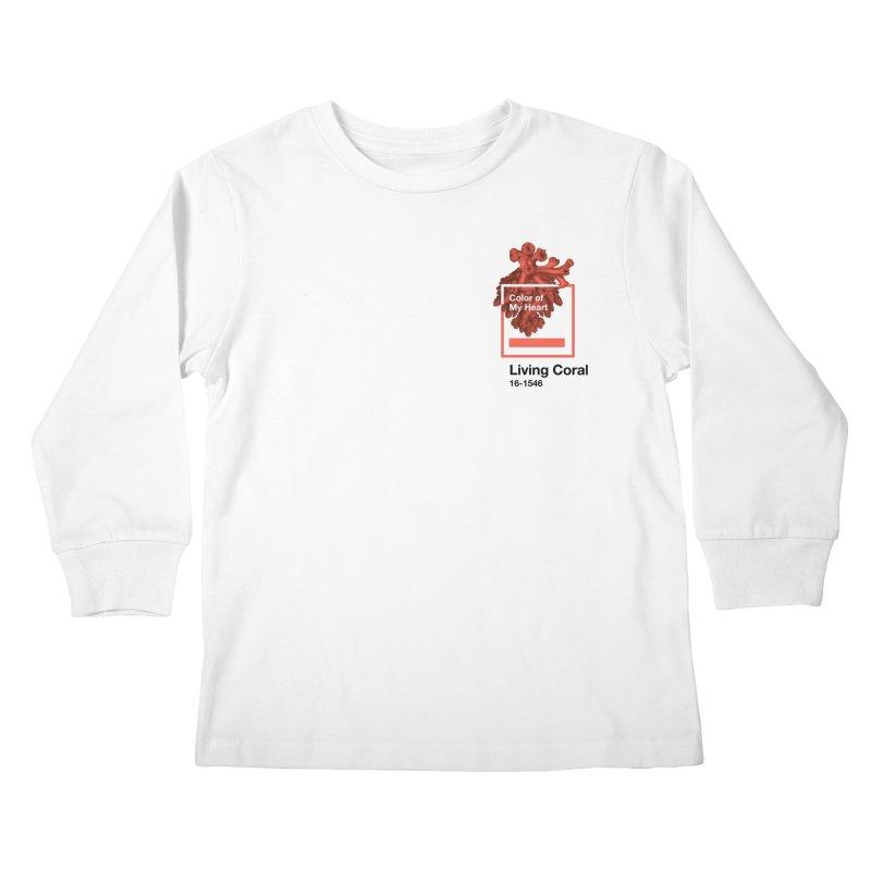 Coral Of My Heart Kids Longsleeve T-Shirt by СУПЕР* / SUPER*