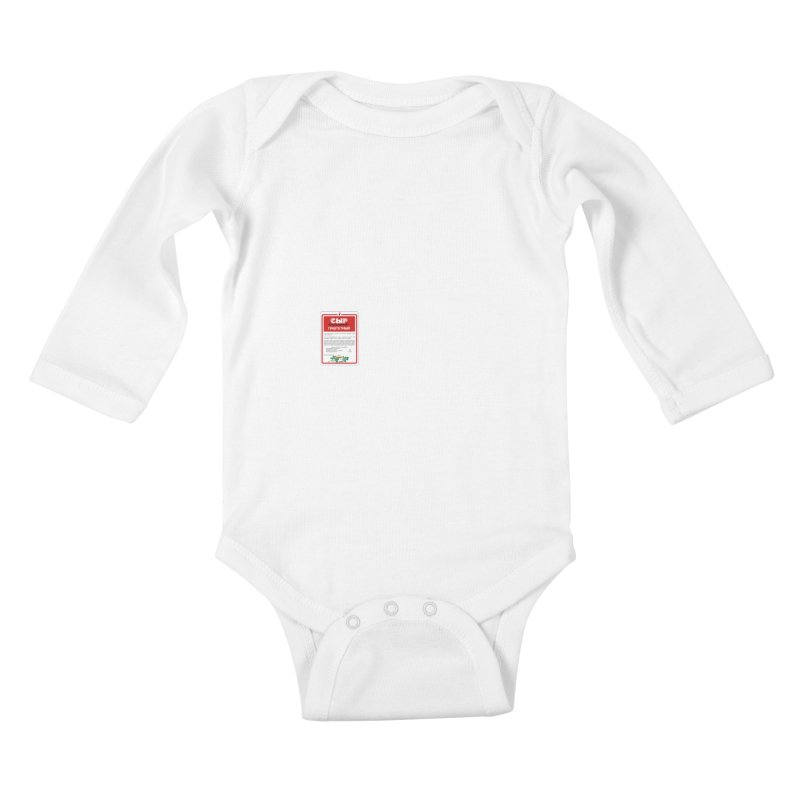 cheese Kids Baby Longsleeve Bodysuit by СУПЕР* / SUPER*