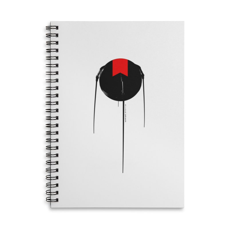 grdk sputnik Accessories Lined Spiral Notebook by ゴロキ | GORODKEY | GRDK Clothing