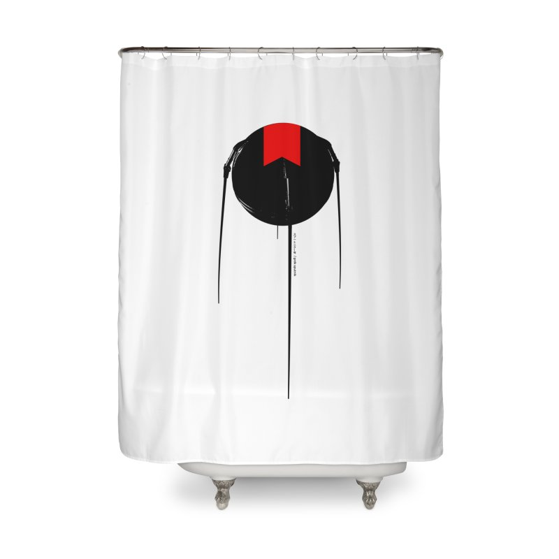grdk sputnik Home Shower Curtain by ゴロキ | GORODKEY | GRDK Clothing