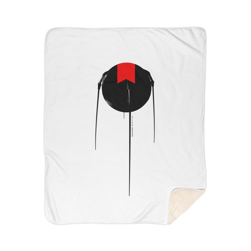 grdk sputnik Home Sherpa Blanket Blanket by ゴロキ   GORODKEY   GRDK Clothing