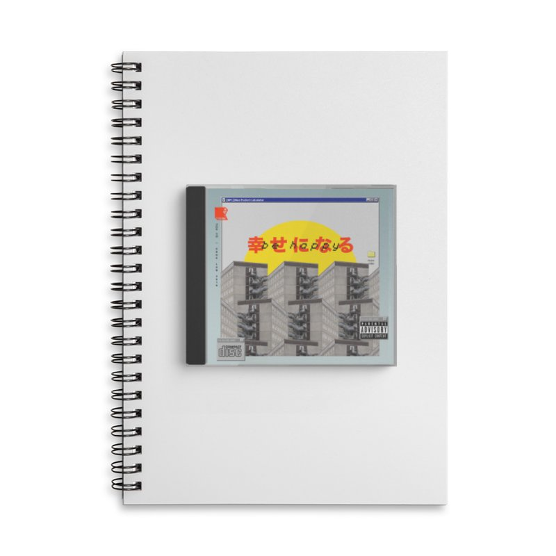 NPC – be happy Accessories Lined Spiral Notebook by ゴロキ | GORODKEY | GRDK Clothing