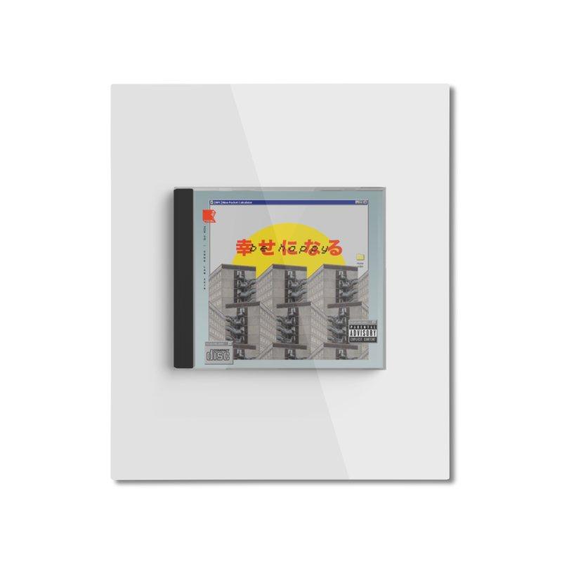 NPC – be happy Home Mounted Aluminum Print by ゴロキ | GORODKEY | GRDK Clothing