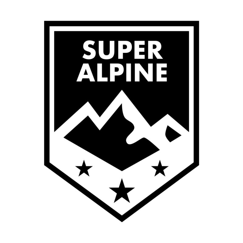 Super Alpine Mountain Logo Men's T-Shirt by Super Alpine Merchandise