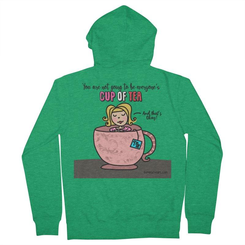 Cup of Tea Women's Zip-Up Hoody by superartgirl's Artist Shop