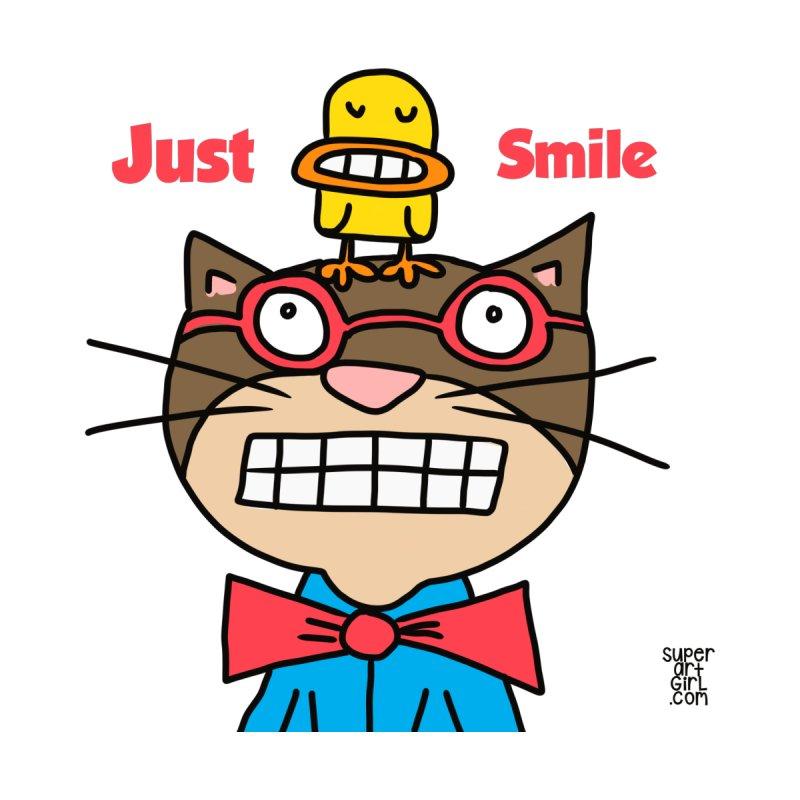 Just Smile Kids Baby Zip-Up Hoody by superartgirl's Artist Shop