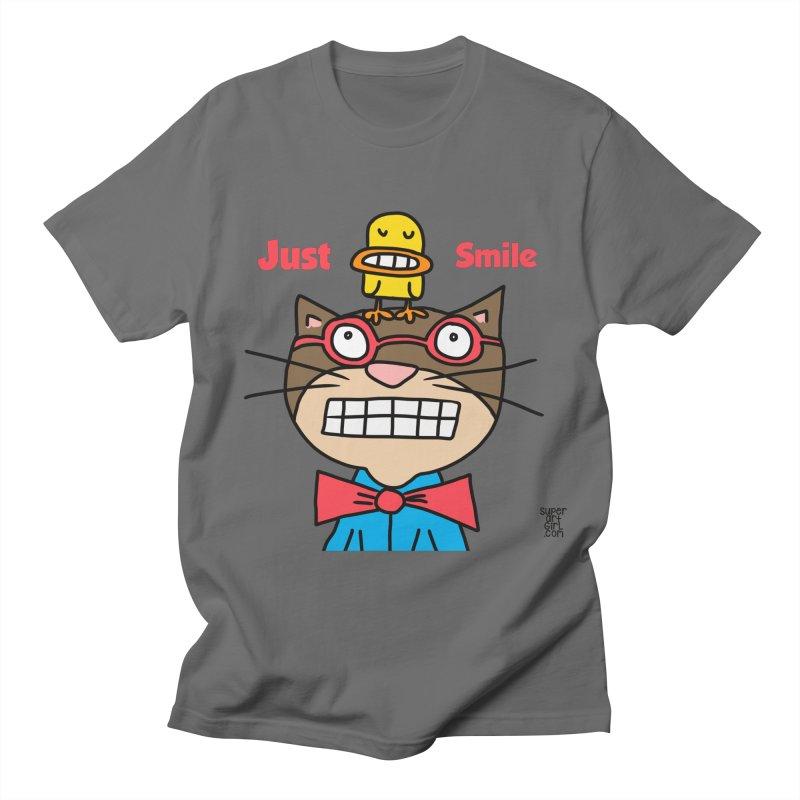 Just Smile Men's T-Shirt by superartgirl's Artist Shop