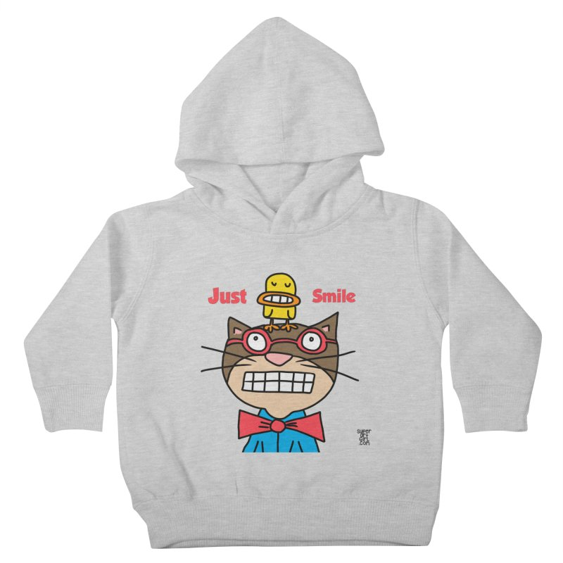 Just Smile Kids Toddler Pullover Hoody by superartgirl's Artist Shop