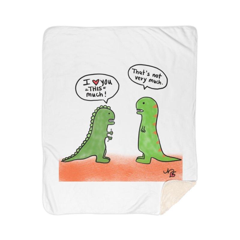Dino Love Home Blanket by superartgirl's Artist Shop