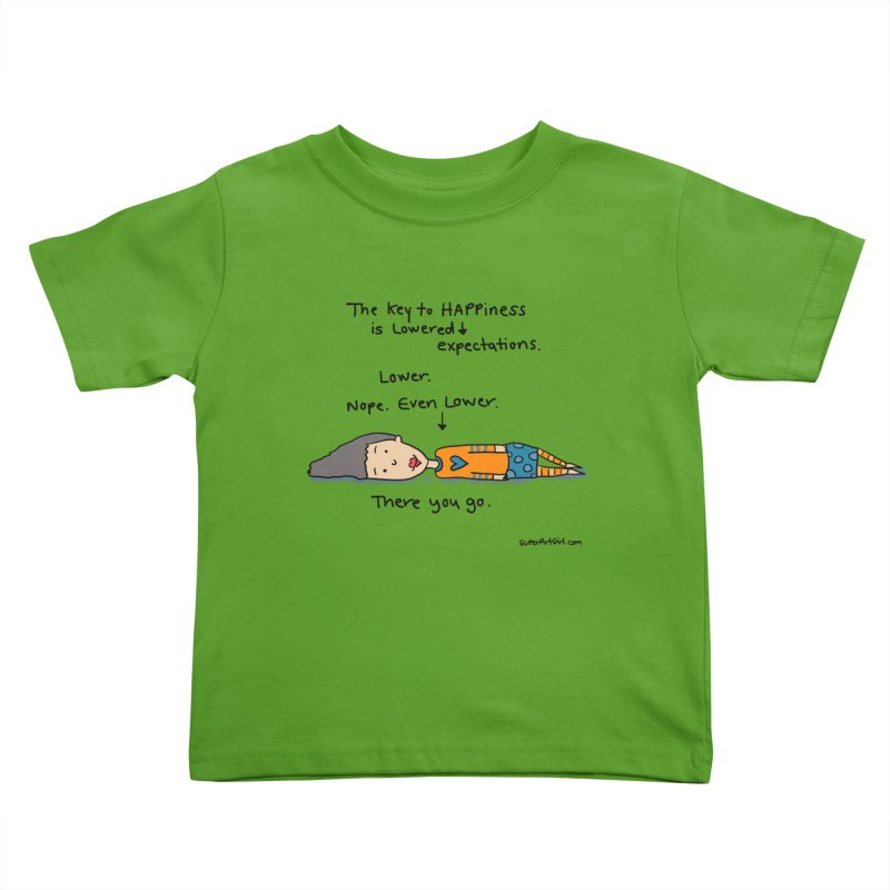 The Key to Happiness Kids Toddler T-Shirt by superartgirl's Artist Shop